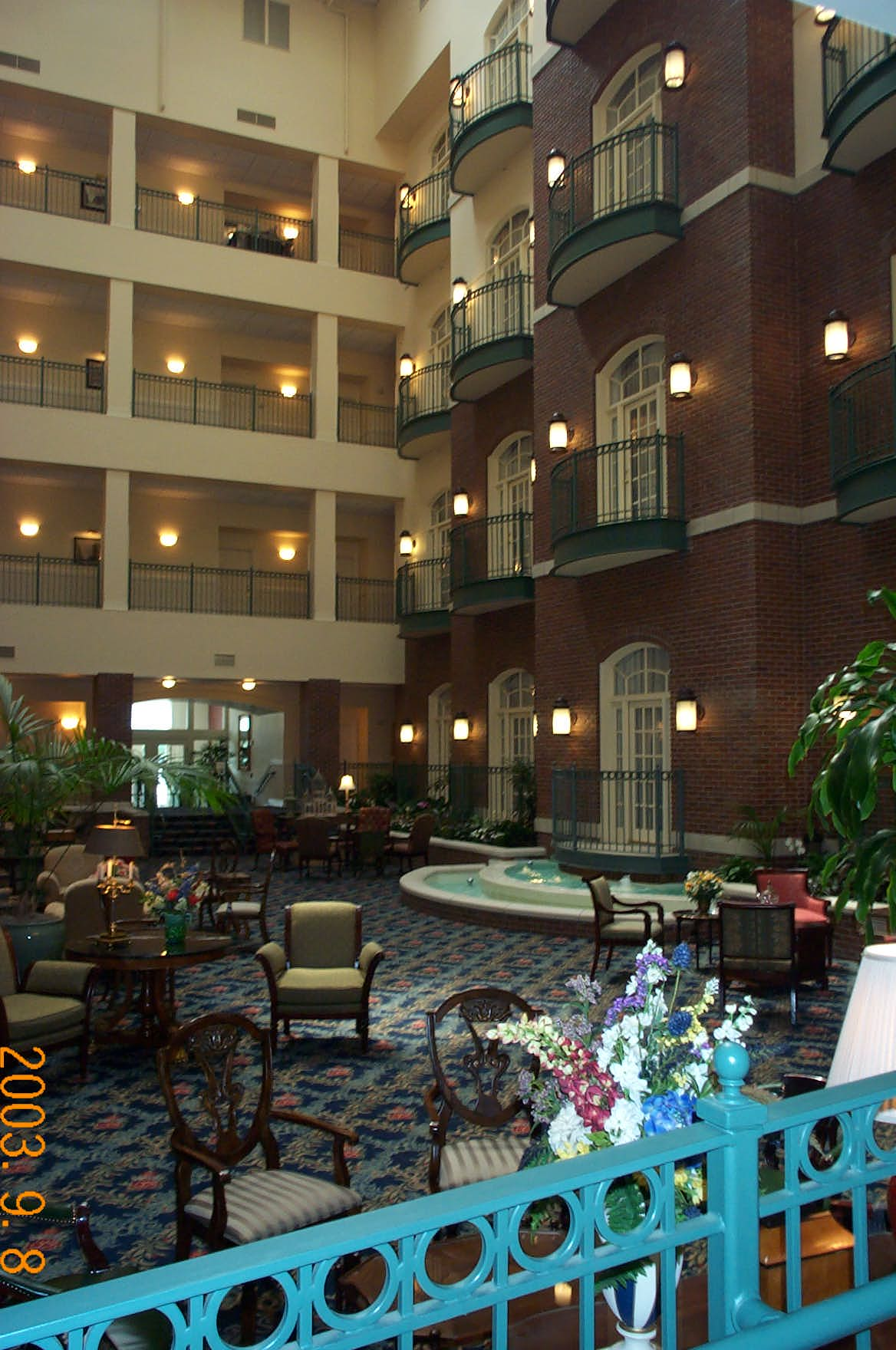 The Hotel atrium looking Southwest